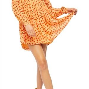 Free People Maria long sleeve minidress